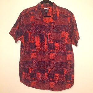 RVCA Printed Relaxed Short Sleeve Patterned Shirt